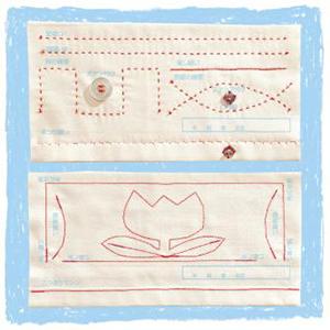 基礎縫いSTEP練習布